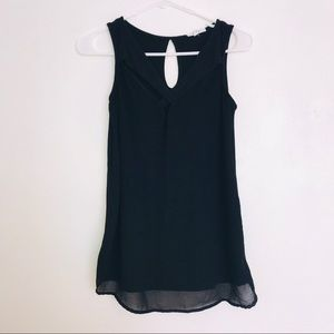 Maurices size xs black sheer tank top.